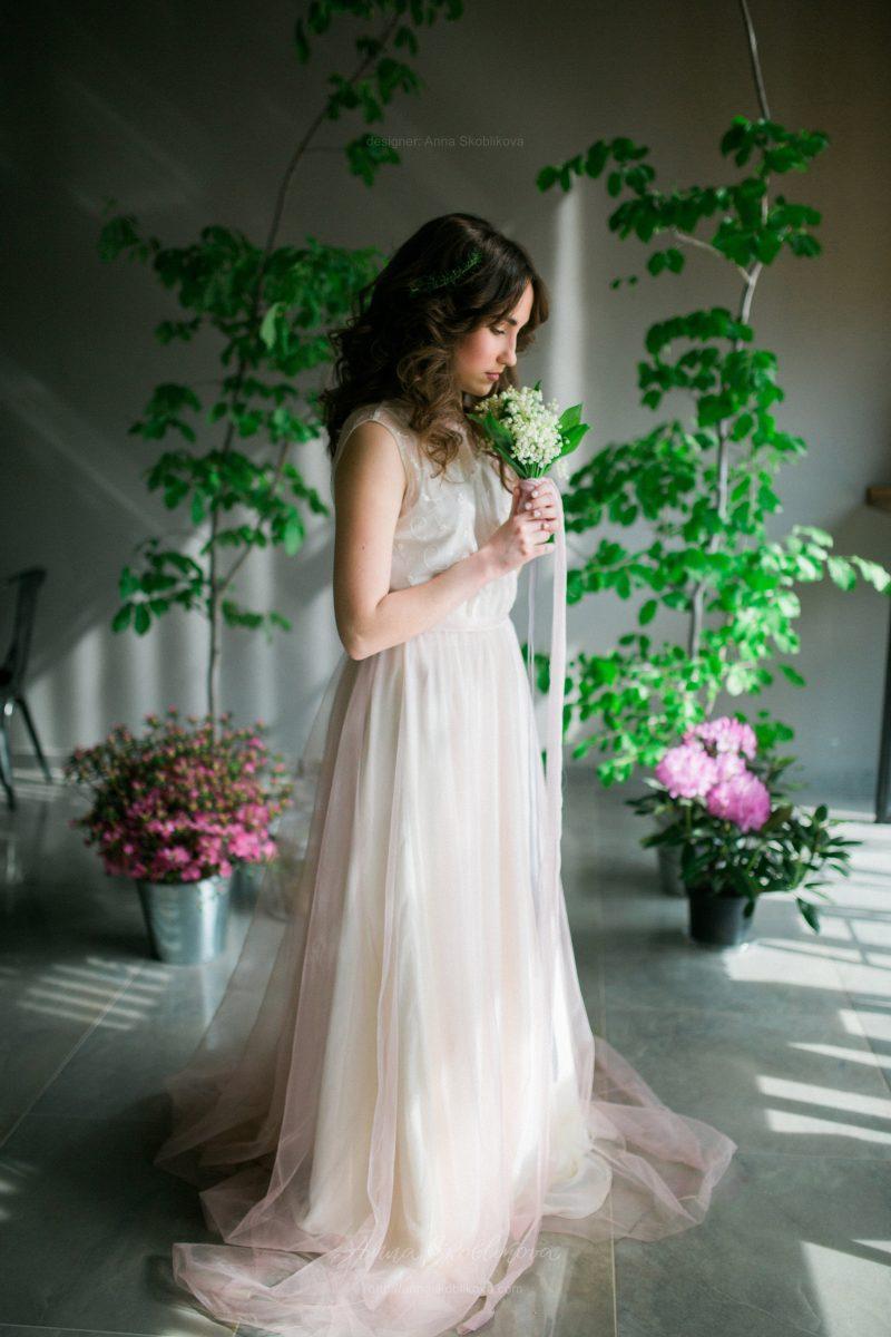Нежное и невесомое платье из кружева и тюля от Anna Skoblikova