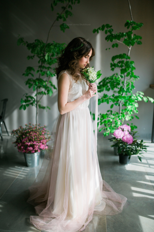 Tender and light as a feather wedding dress | Anna Skoblikova ...