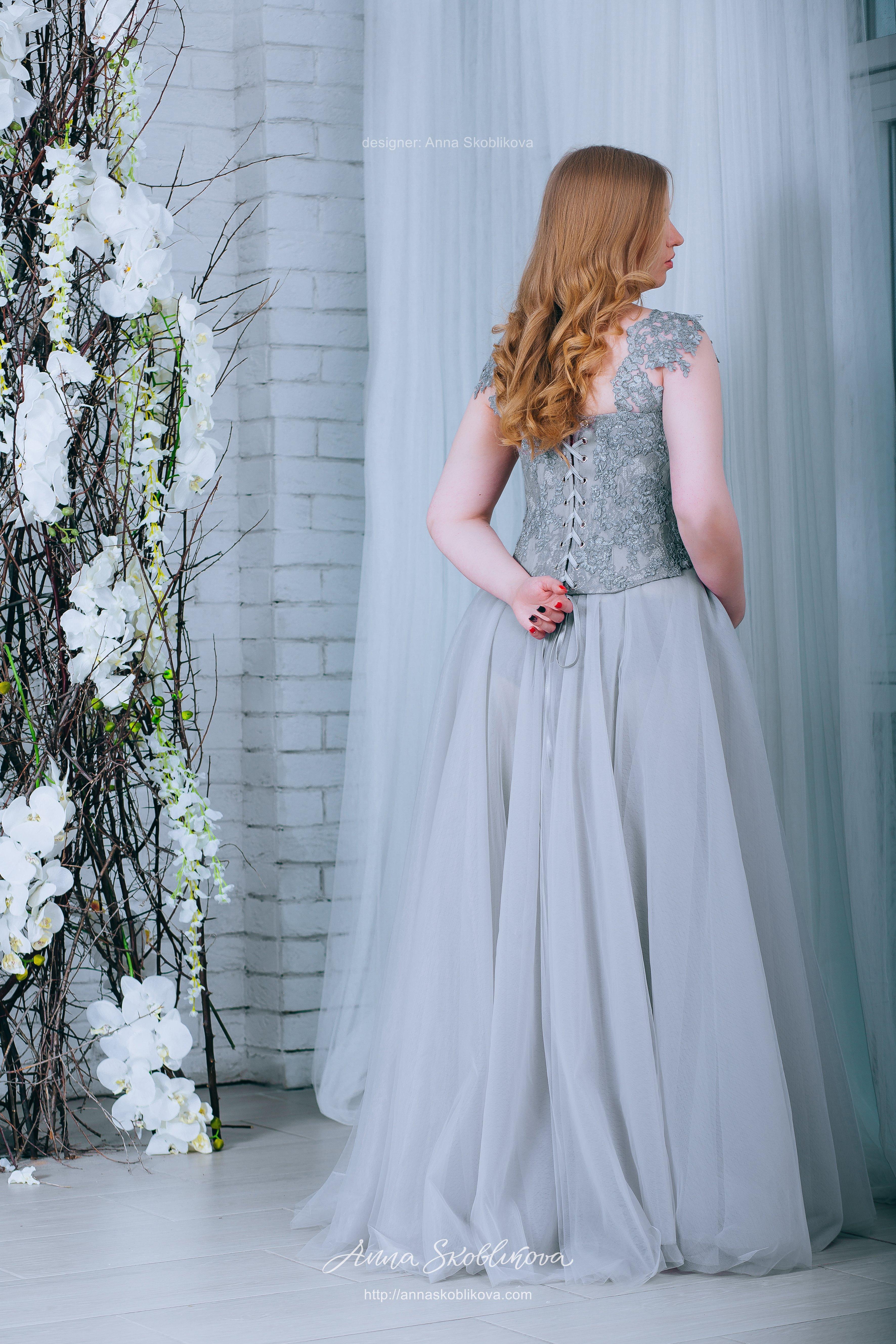 Grey Wedding dress | Anna Skoblikova - Wedding Dresses & Evening Gowns