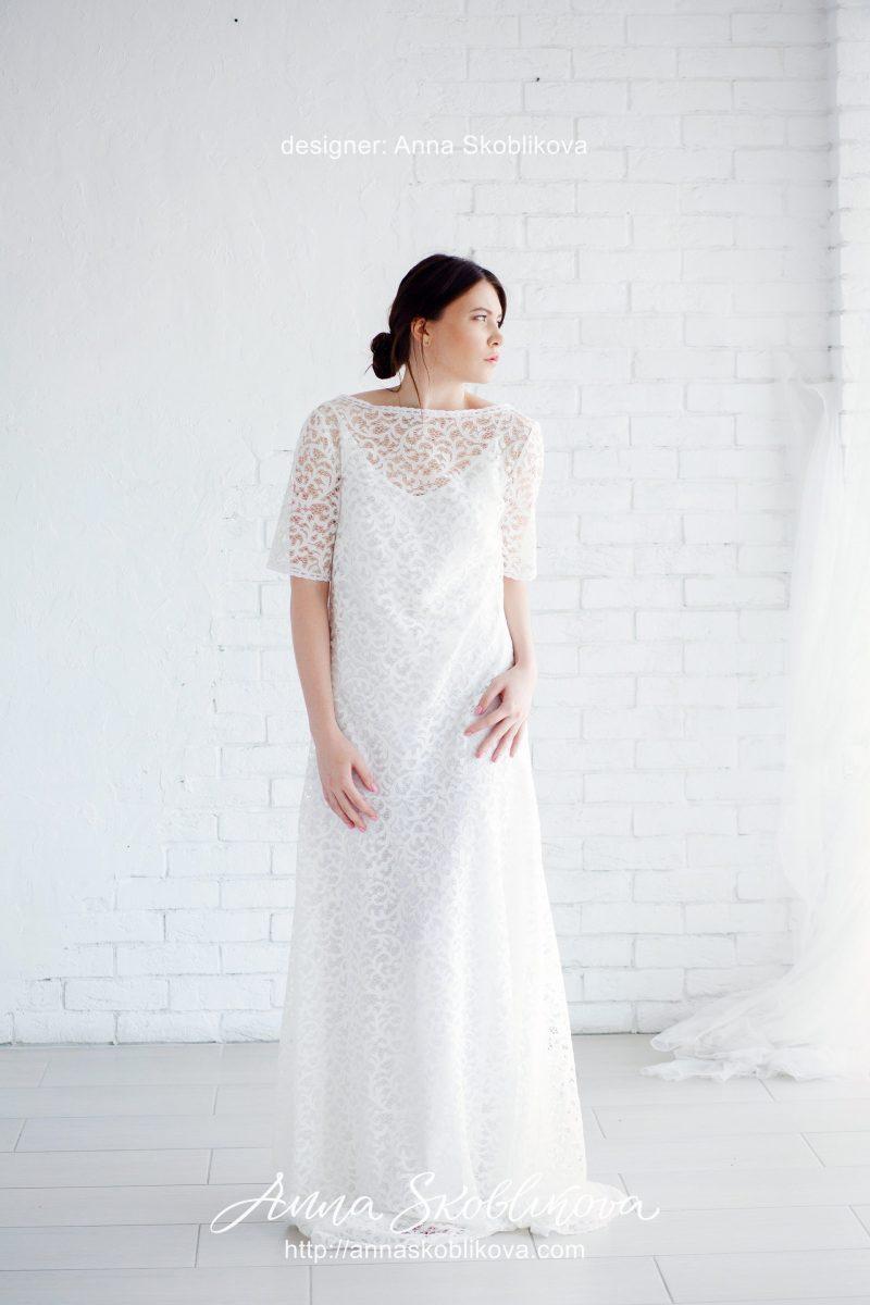 Милое и нежное свадебное платье от Anna Skoblikova