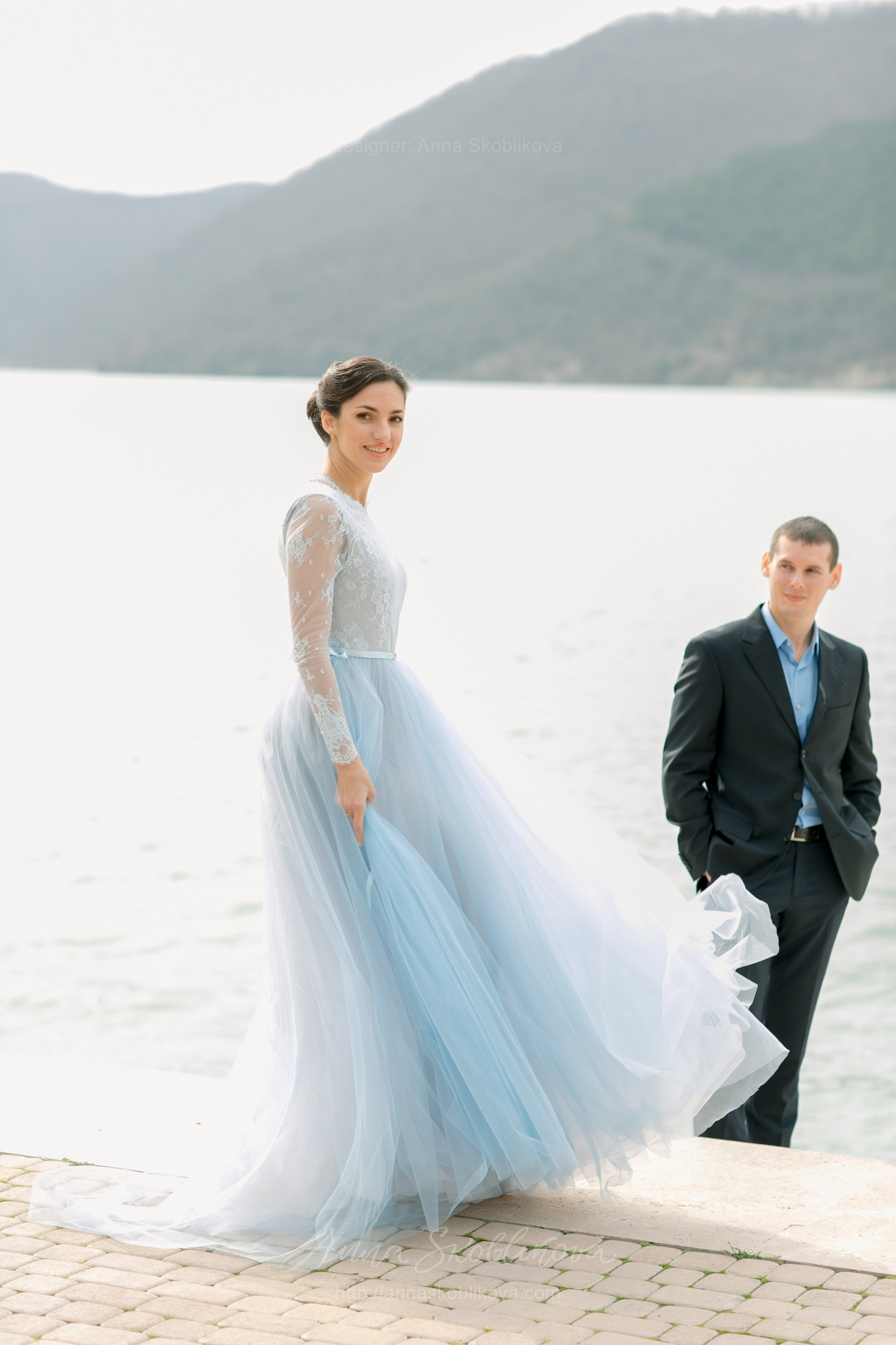 Light Blue Wedding Gown | Anna Skoblikova - Wedding Dresses ...