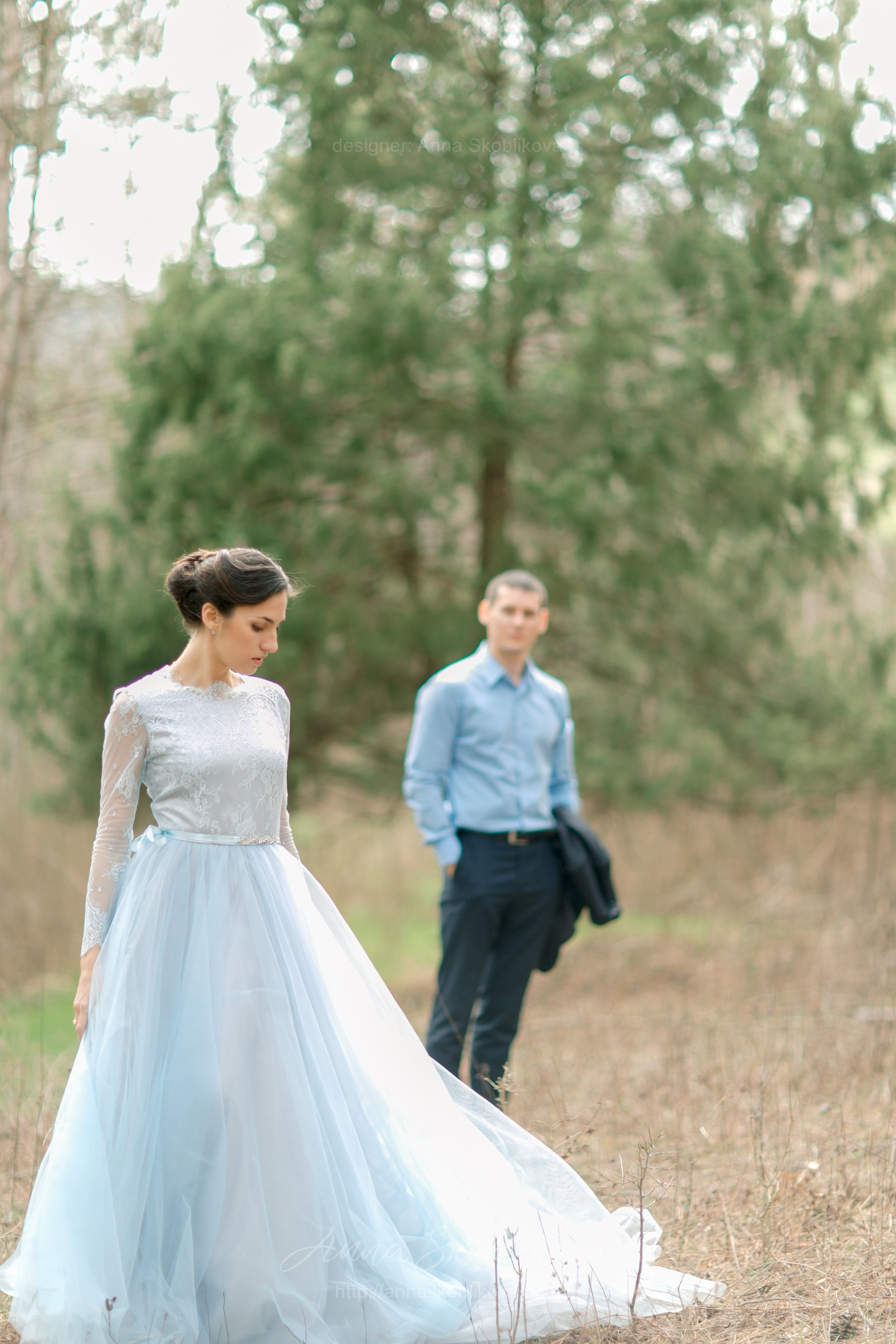 Light Blue Wedding Gown | Anna Skoblikova - Wedding Dresses ...