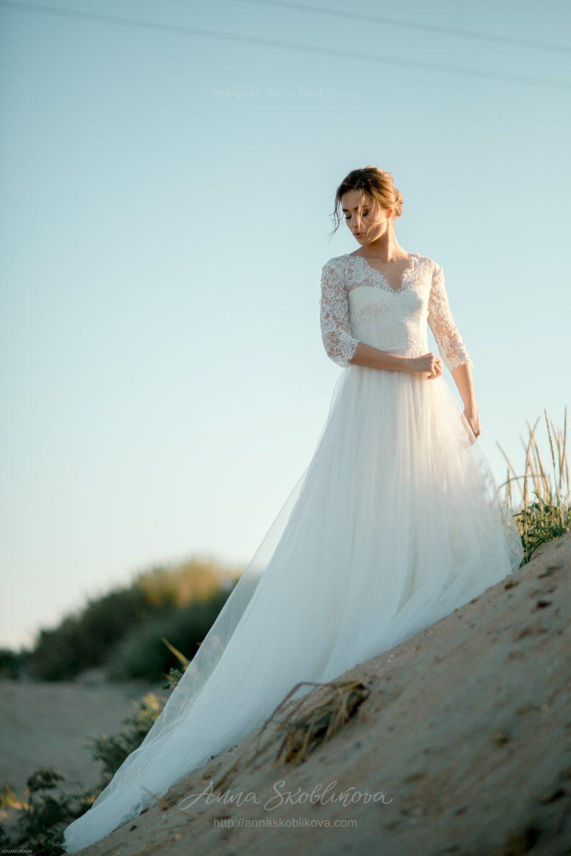 Кружевное свадебное платье от Anna Skoblikova
