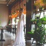 Chantilly lace Wedding dress by Anna Skoblikova