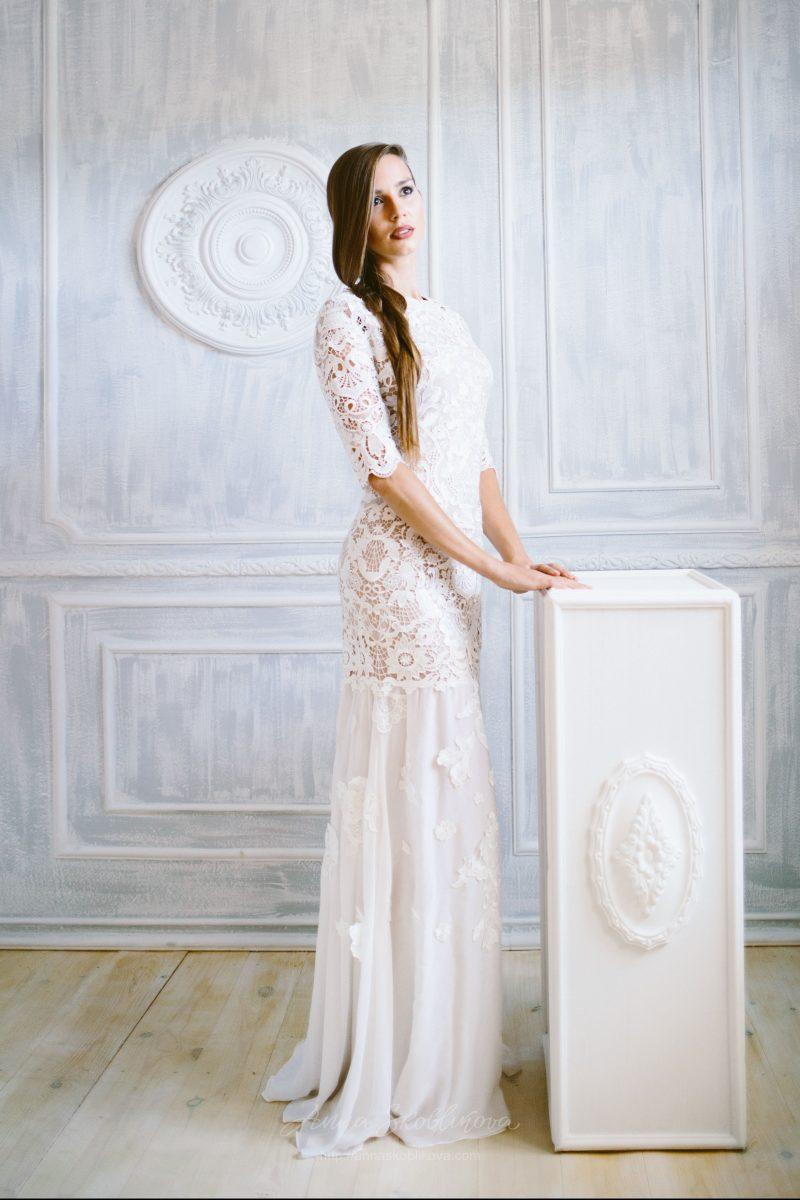 Свадебное платье из кружева макраме Anna Skoblikova