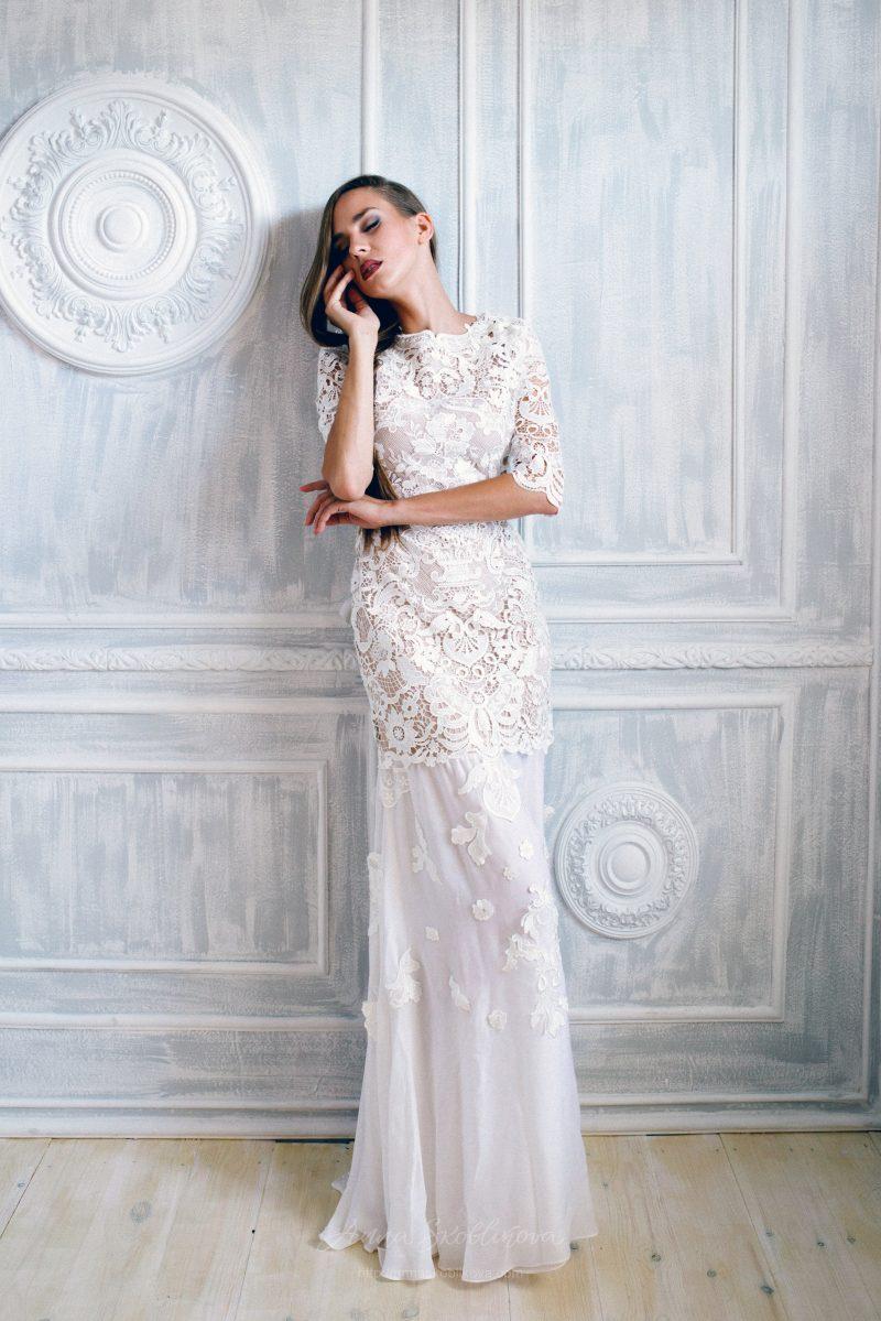 Macrame lace wedding dress by Anna Skoblikova