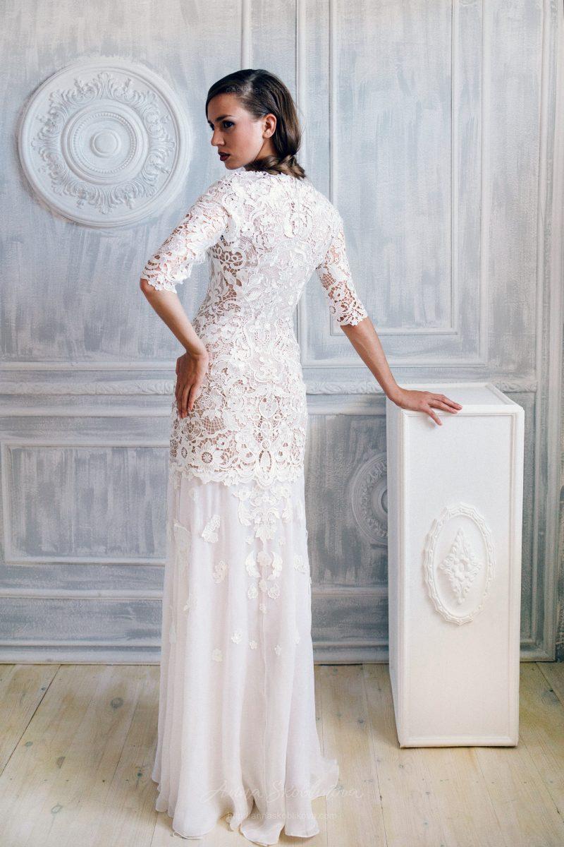 Свадебное платье из кружева макраме от Anna Skoblikova