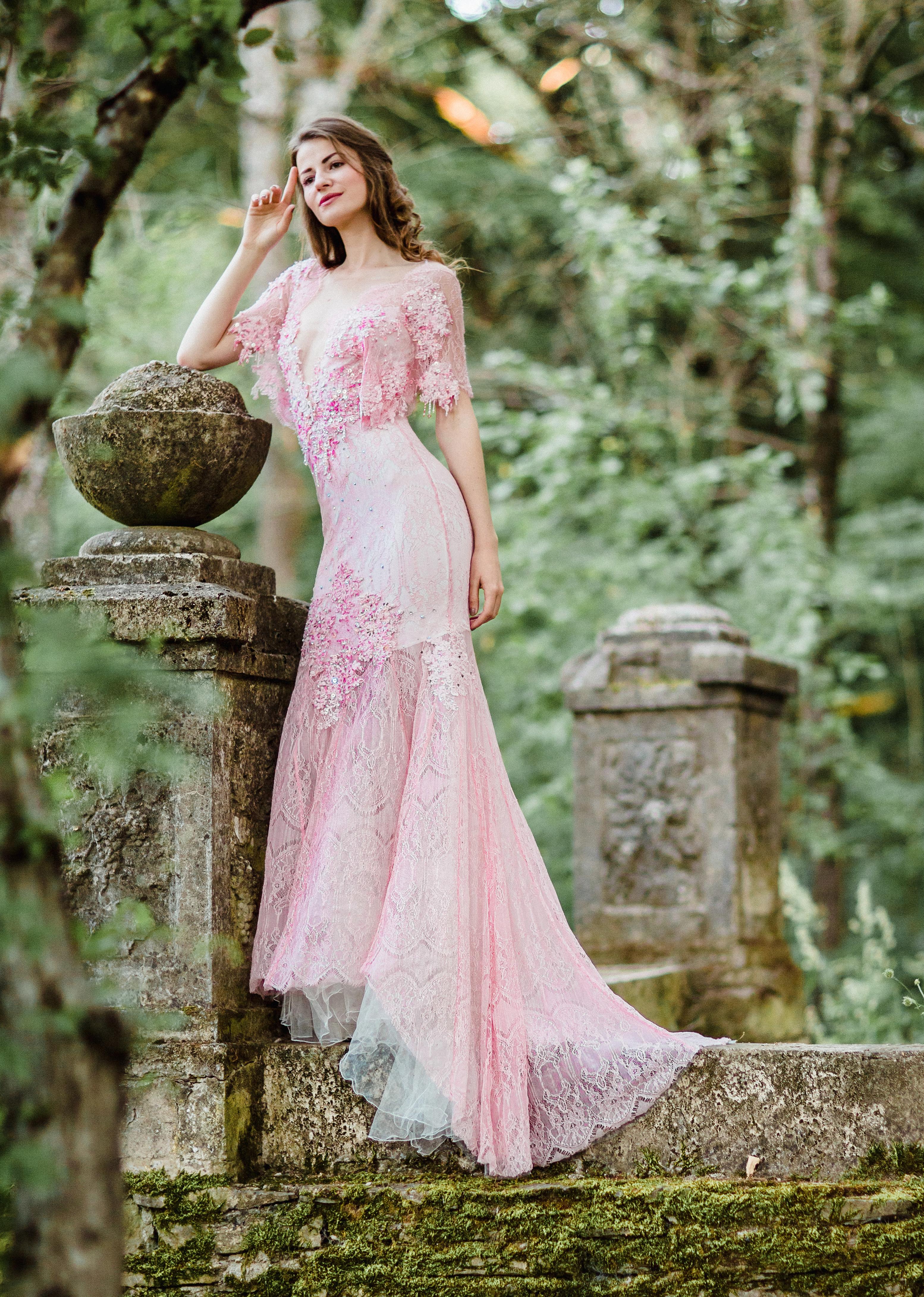 Airy light pink wedding dress anna skoblikova wedding dresses airy light pink wedding dress junglespirit Images