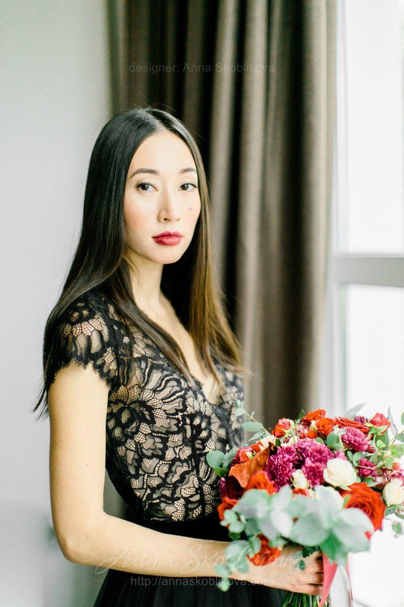 Вечернее и Свадебное платье черного цвета от Anna Skoblikova