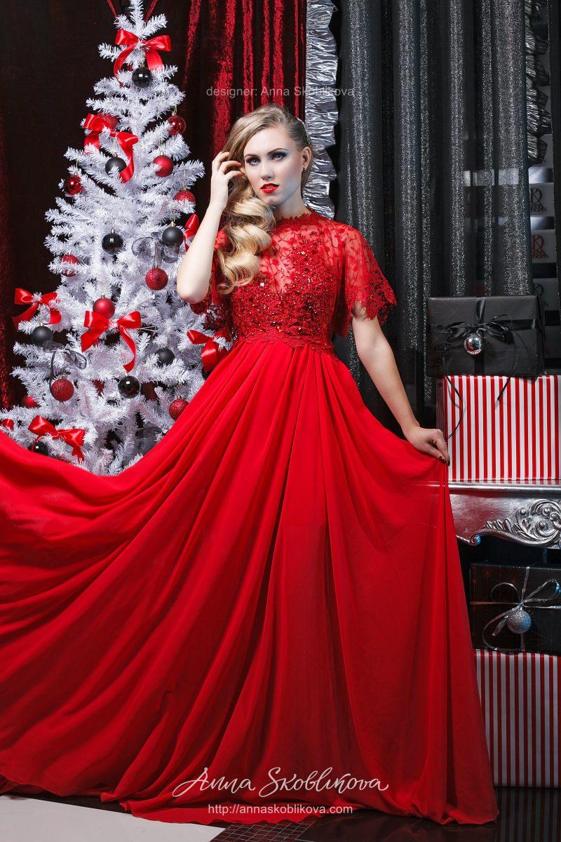 Роскошное красное платье от Anna Skoblikova