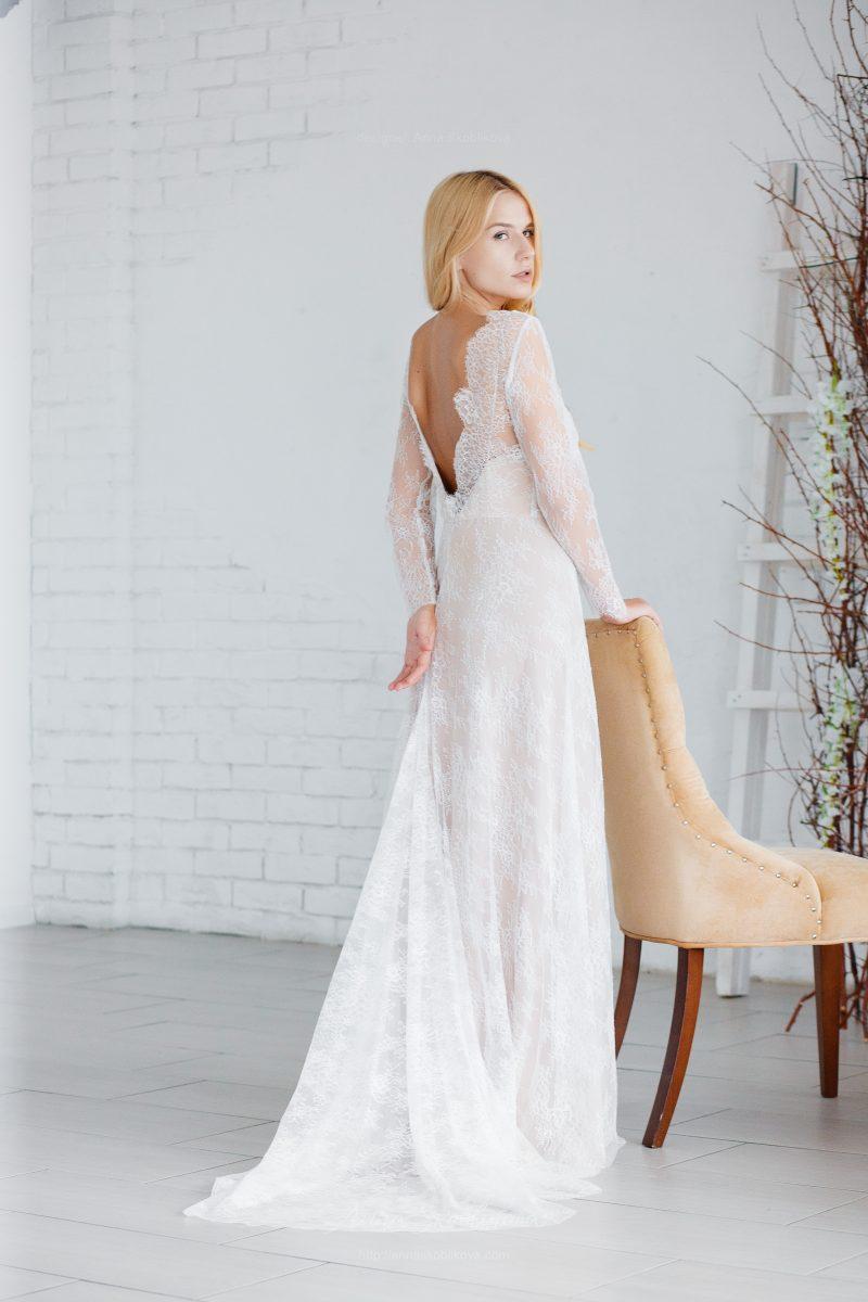 Свадебное платье из тонкого кружева от Anna Skoblikova