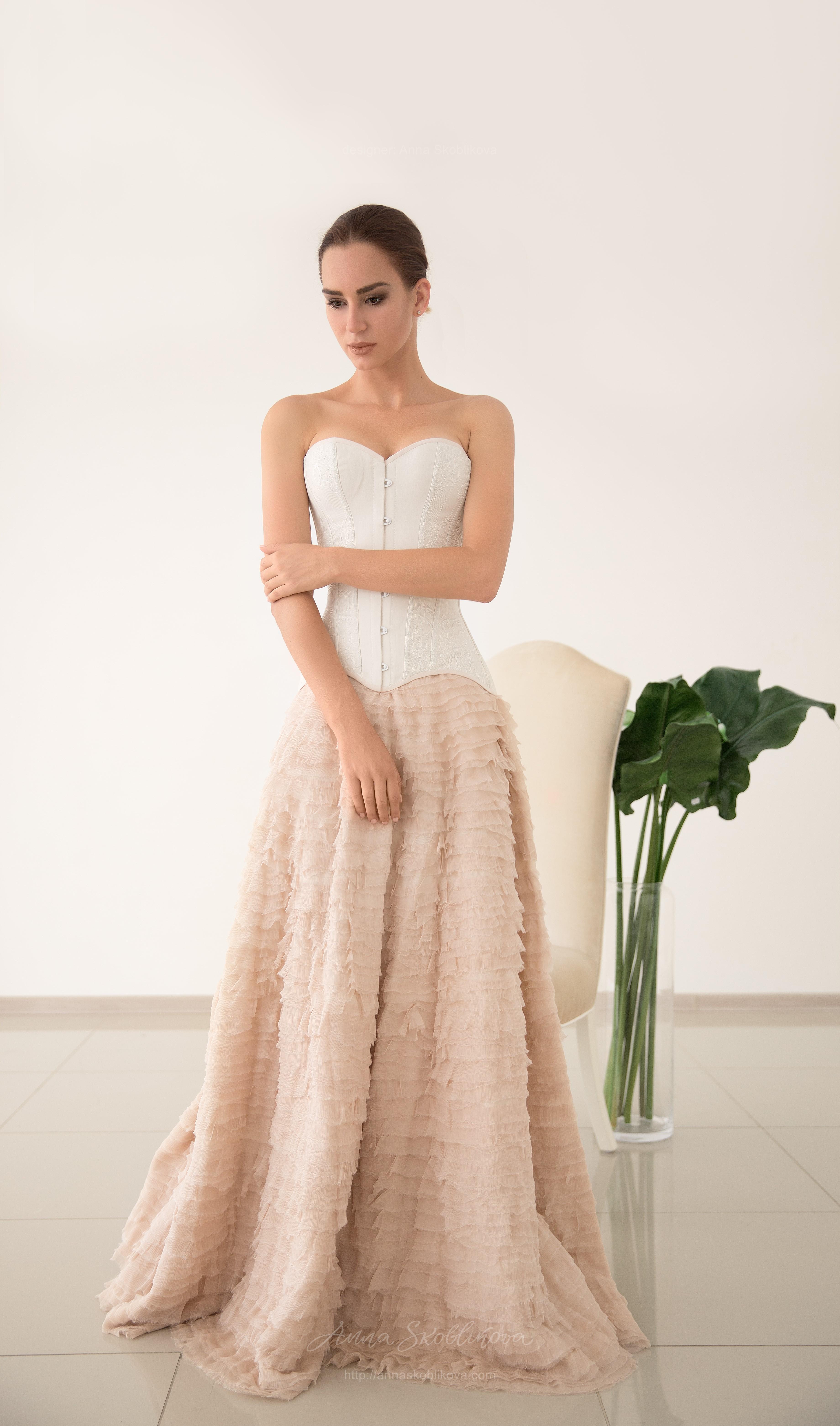 Silk Wedding Dress.Luxurious Natural Silk Wedding Skirt Anna Skoblikova
