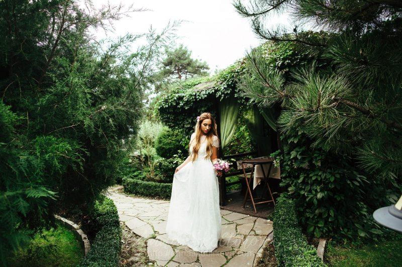 Свадебное платье из кружева А силуэта от Anna Skoblikova