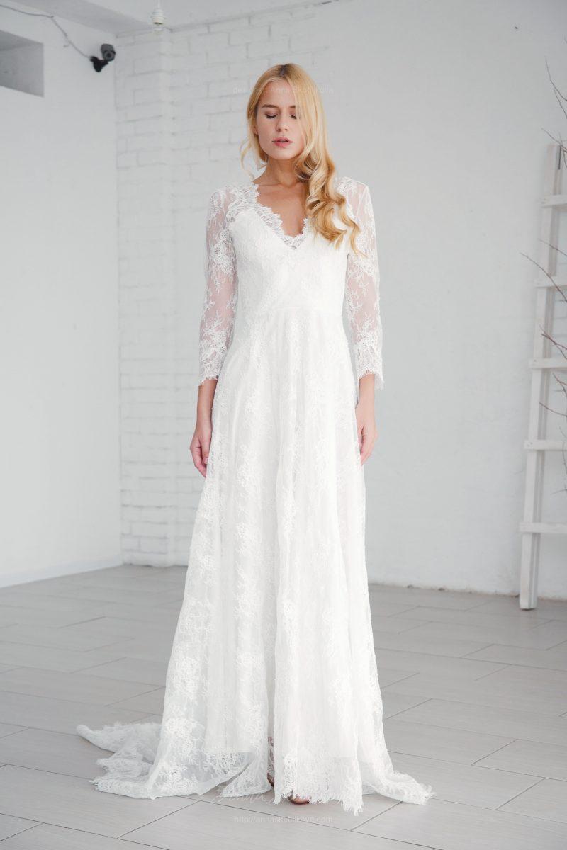 Свадебное кружевное платье от Anna Skoblikova