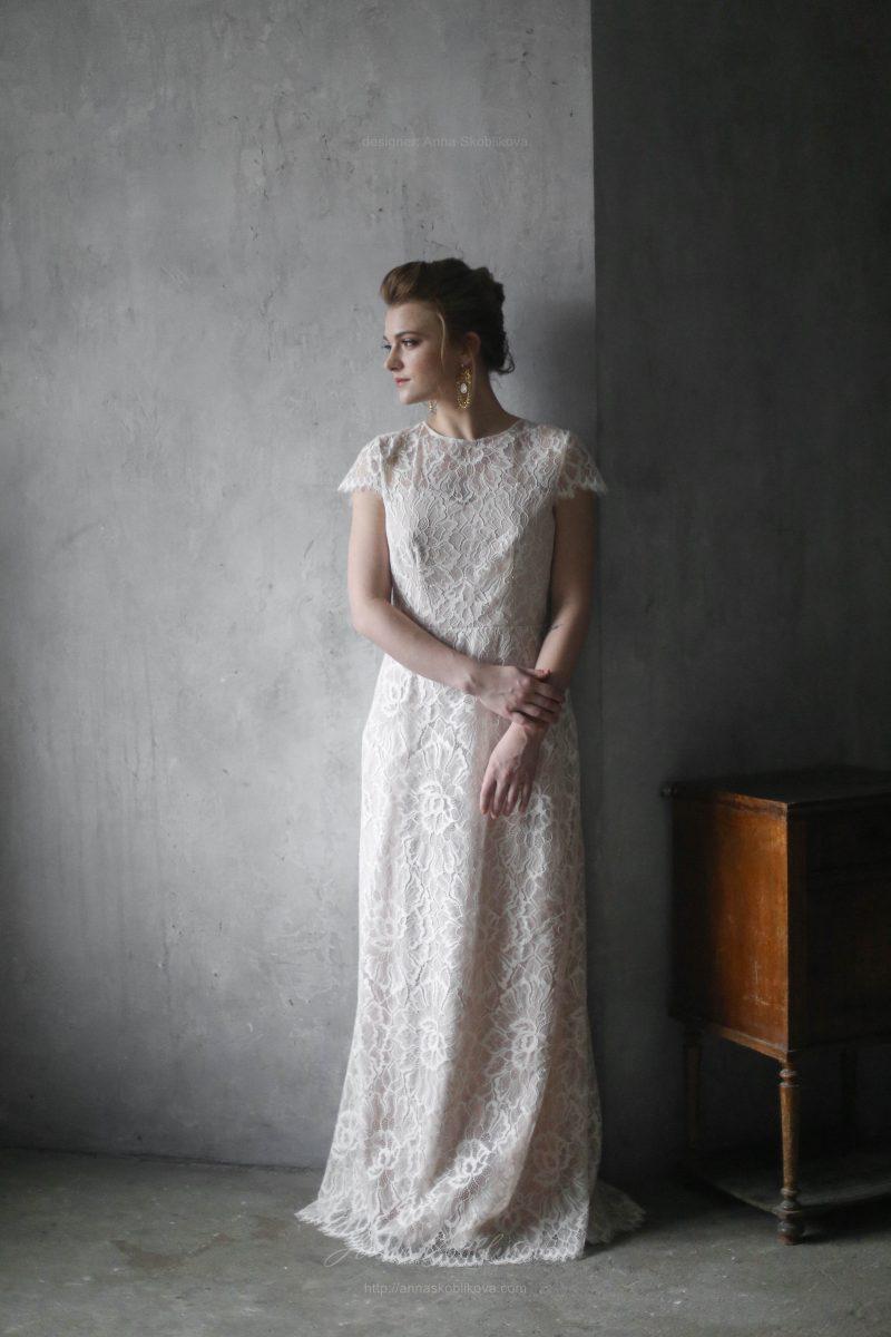 Элегантное свадебное платье из кружева от Anna Skoblikova