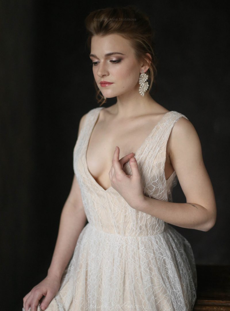 Нежное свадебное и вечернее платье из сеточки от Anna Skoblikova