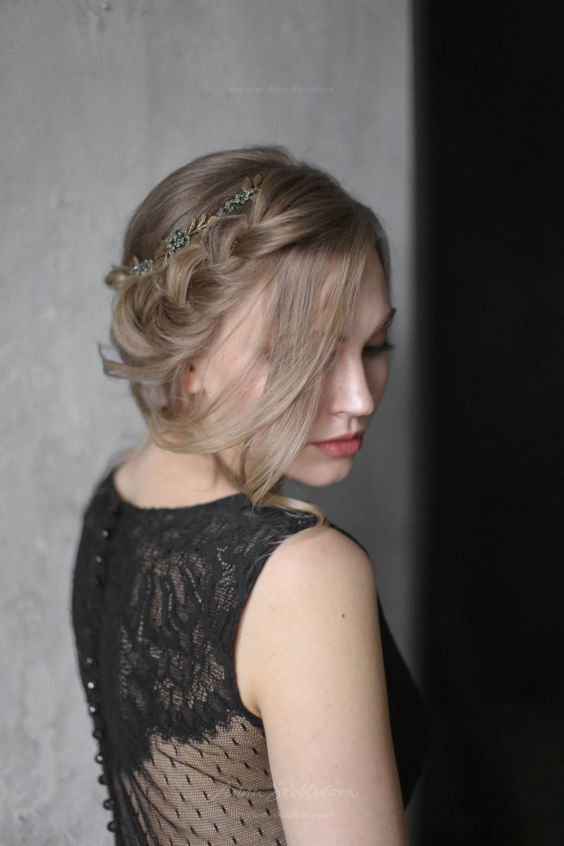 Черное вечернее или свадебное платье с гладкой юбкой от Anna Skoblikova
