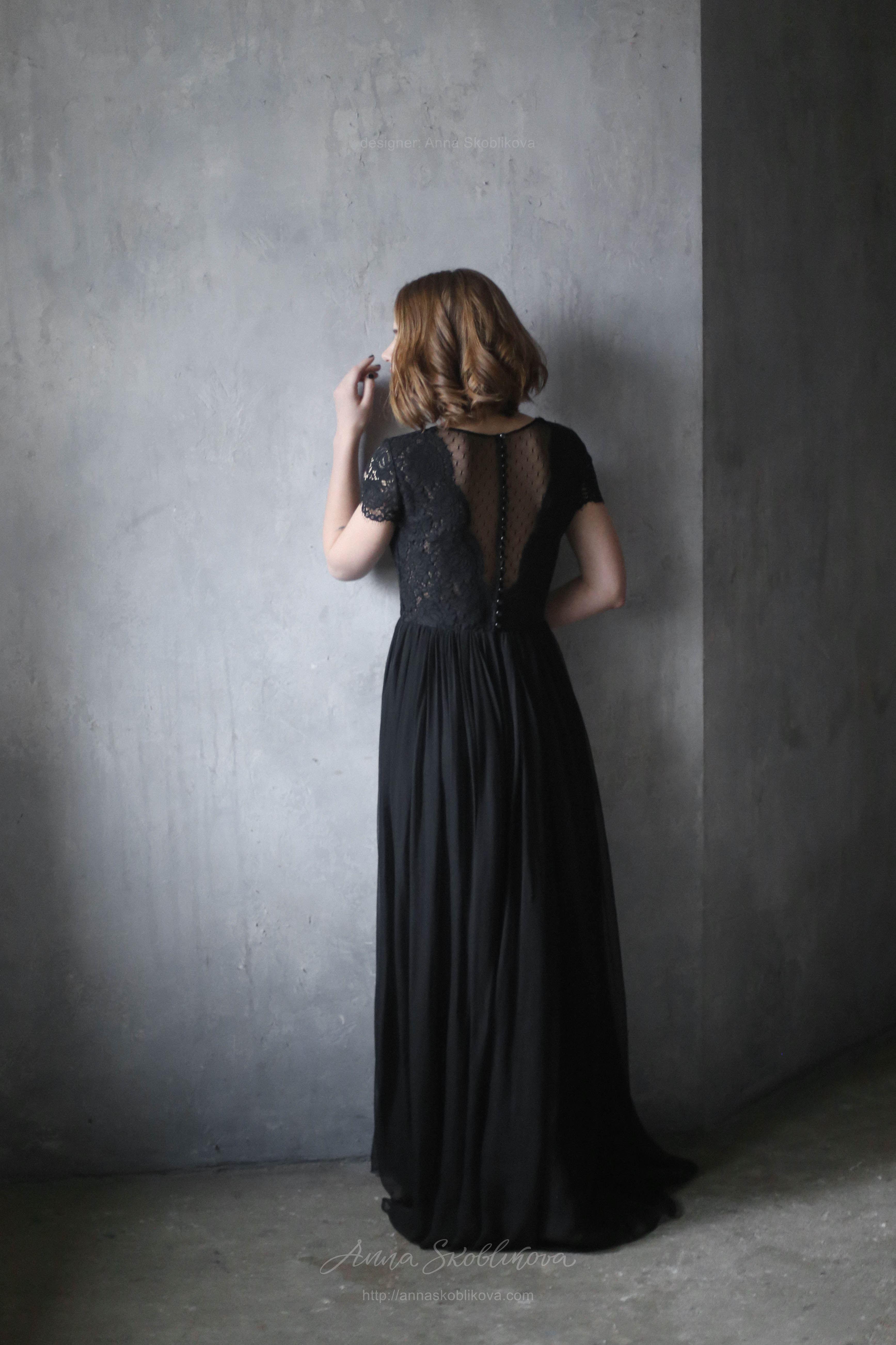 Black evening - Wedding dress | Anna Skoblikova - Wedding Dresses ...