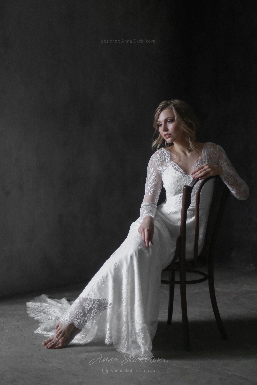 Lace Decollete Wedding Dress
