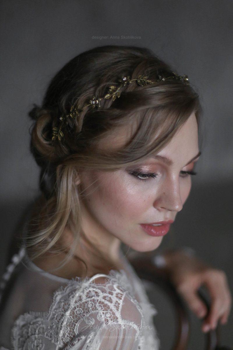 Роскошное свадебное платье со шлейфом от Anna Skoblikova