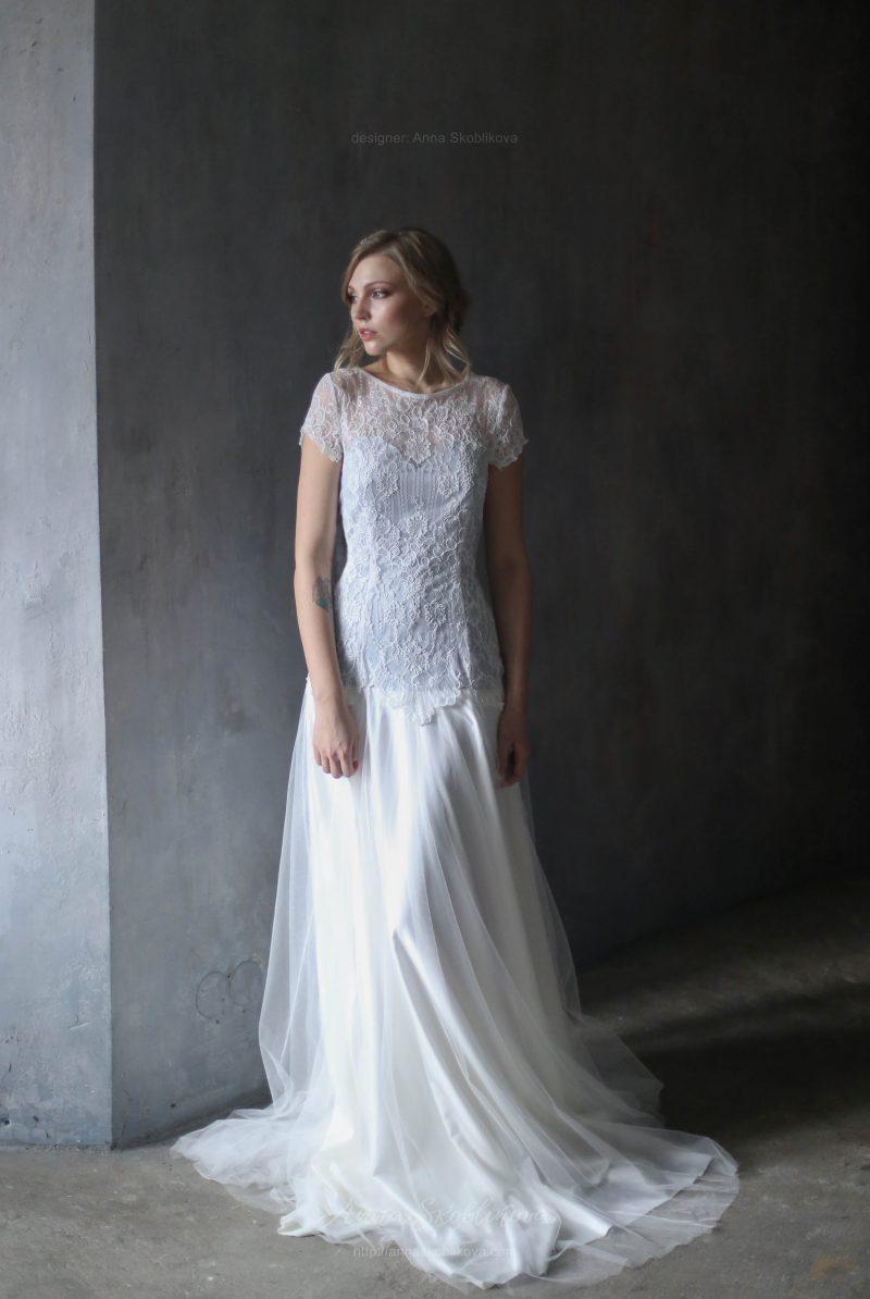Нежное свадебное платье с кружевом от Anna Skoblikova