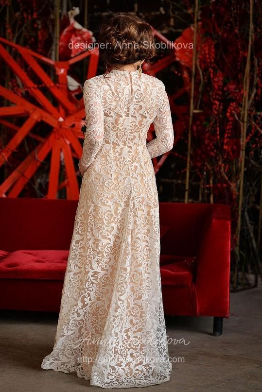 Свадебное платье из расшитого кружева от Anna Skoblikova
