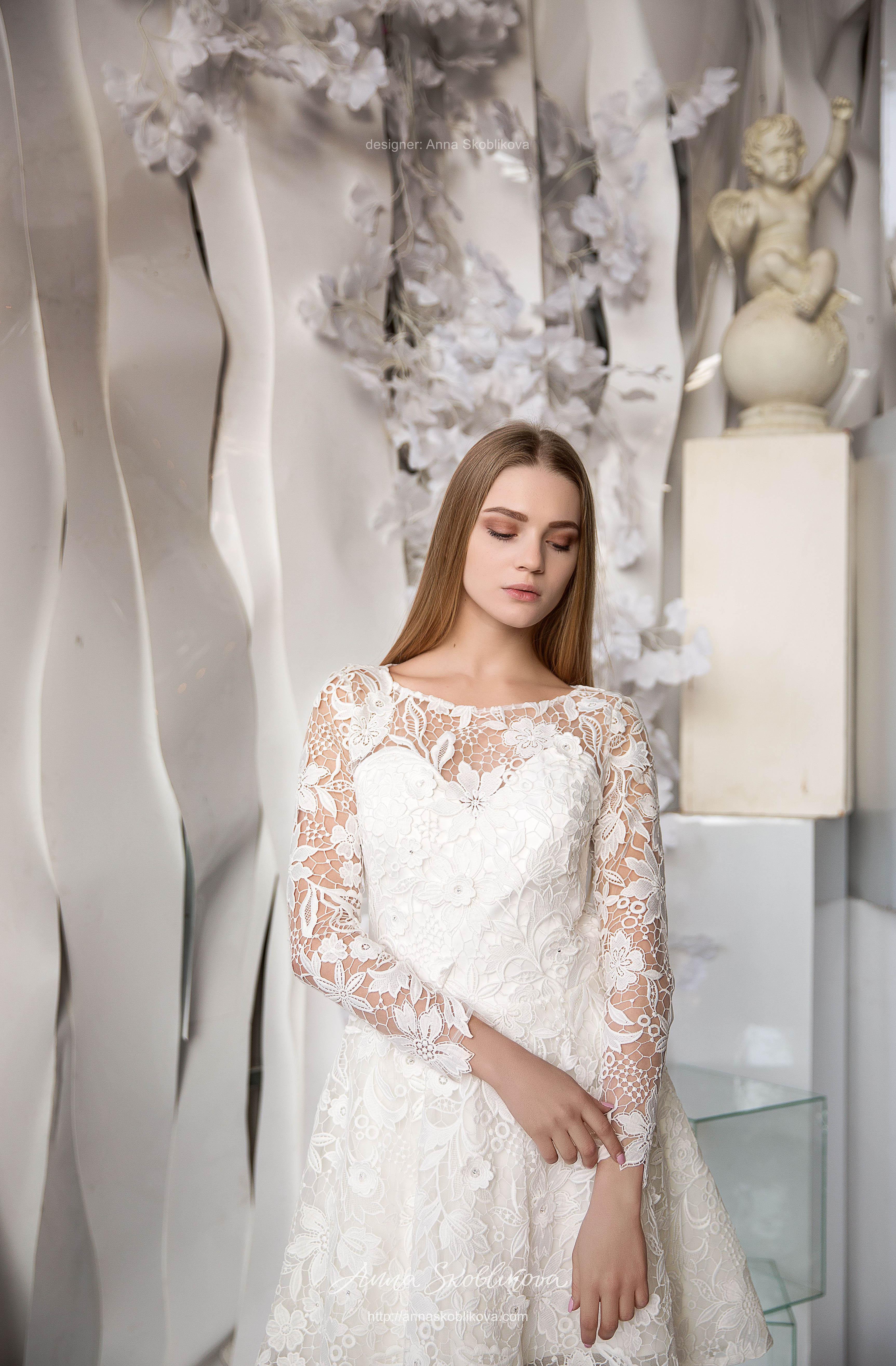 Open-back wedding lace dress | Anna Skoblikova - Wedding ...