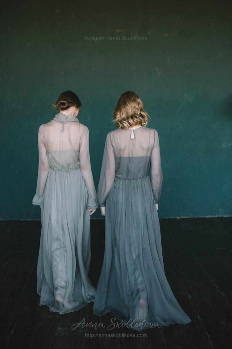 Вечернее платье из натурального шелка от Anna Skoblikova
