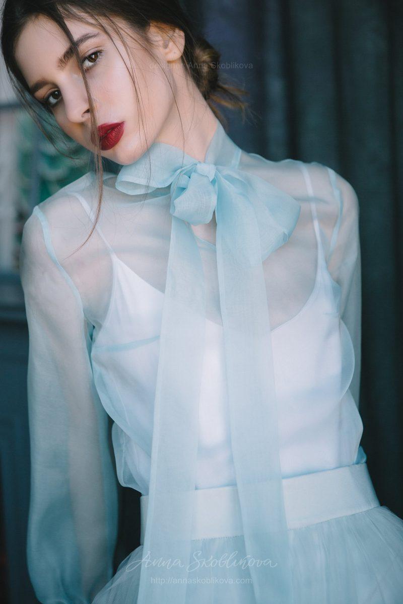 Вечерний и свадебный комплект цвета Аква от Anna Skoblikova