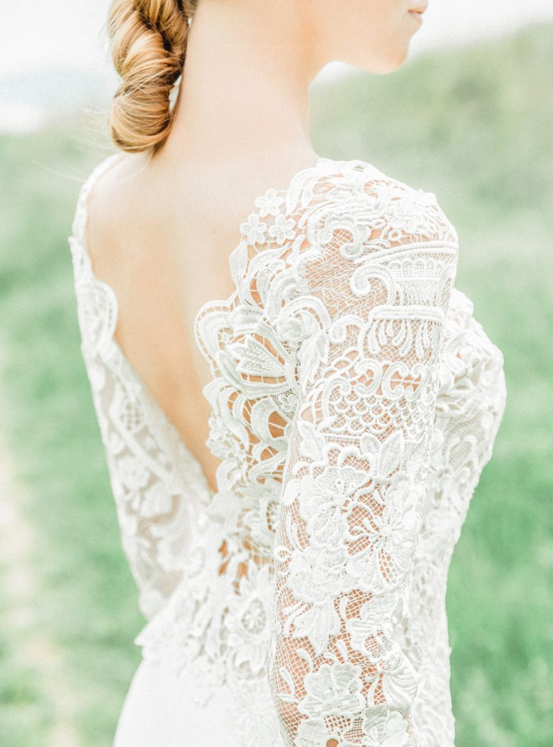 Свадебное платье трансформер из роскошного кружева-макраме и шифона от Anna Skoblikova