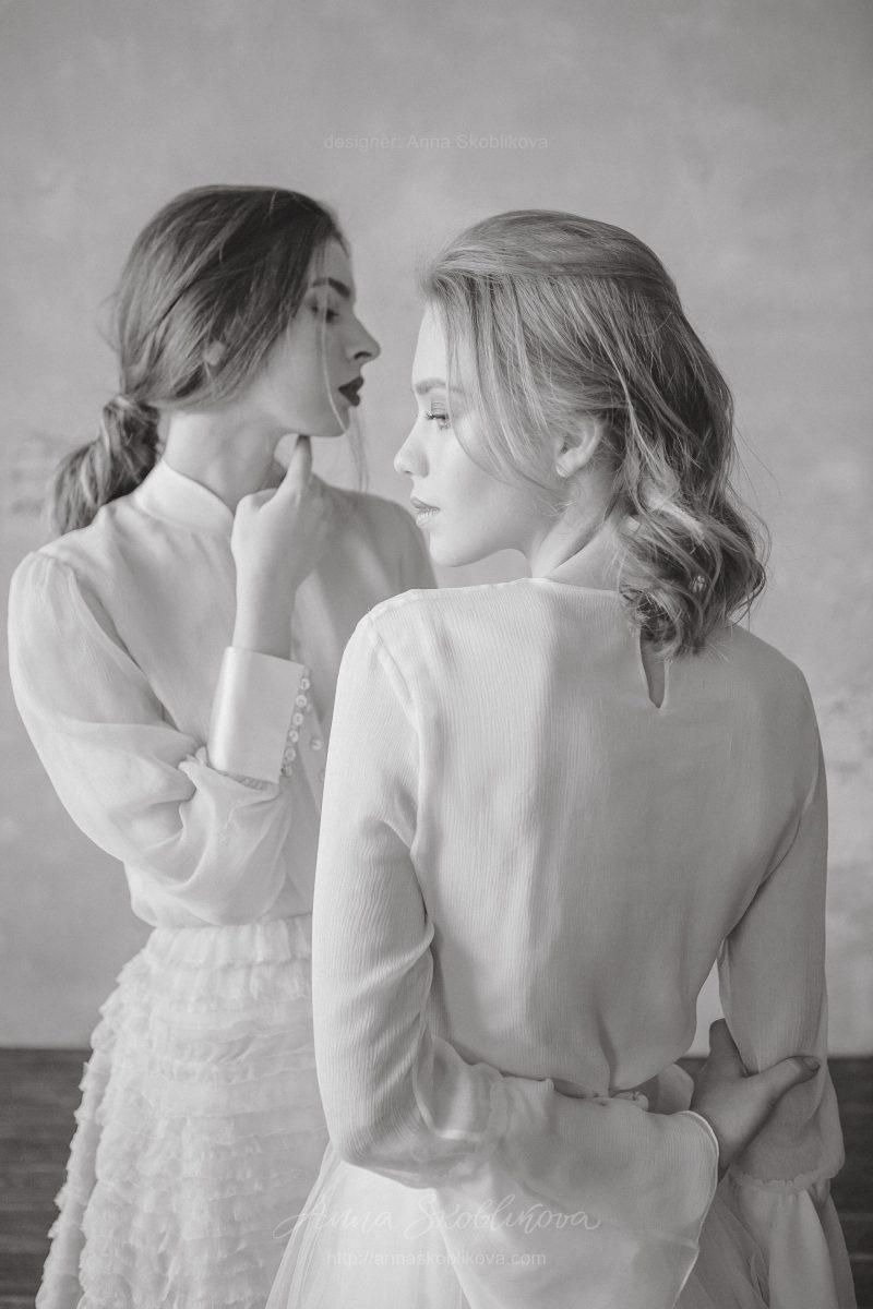 Свадебный комплект белого цвета от Anna Skoblikova