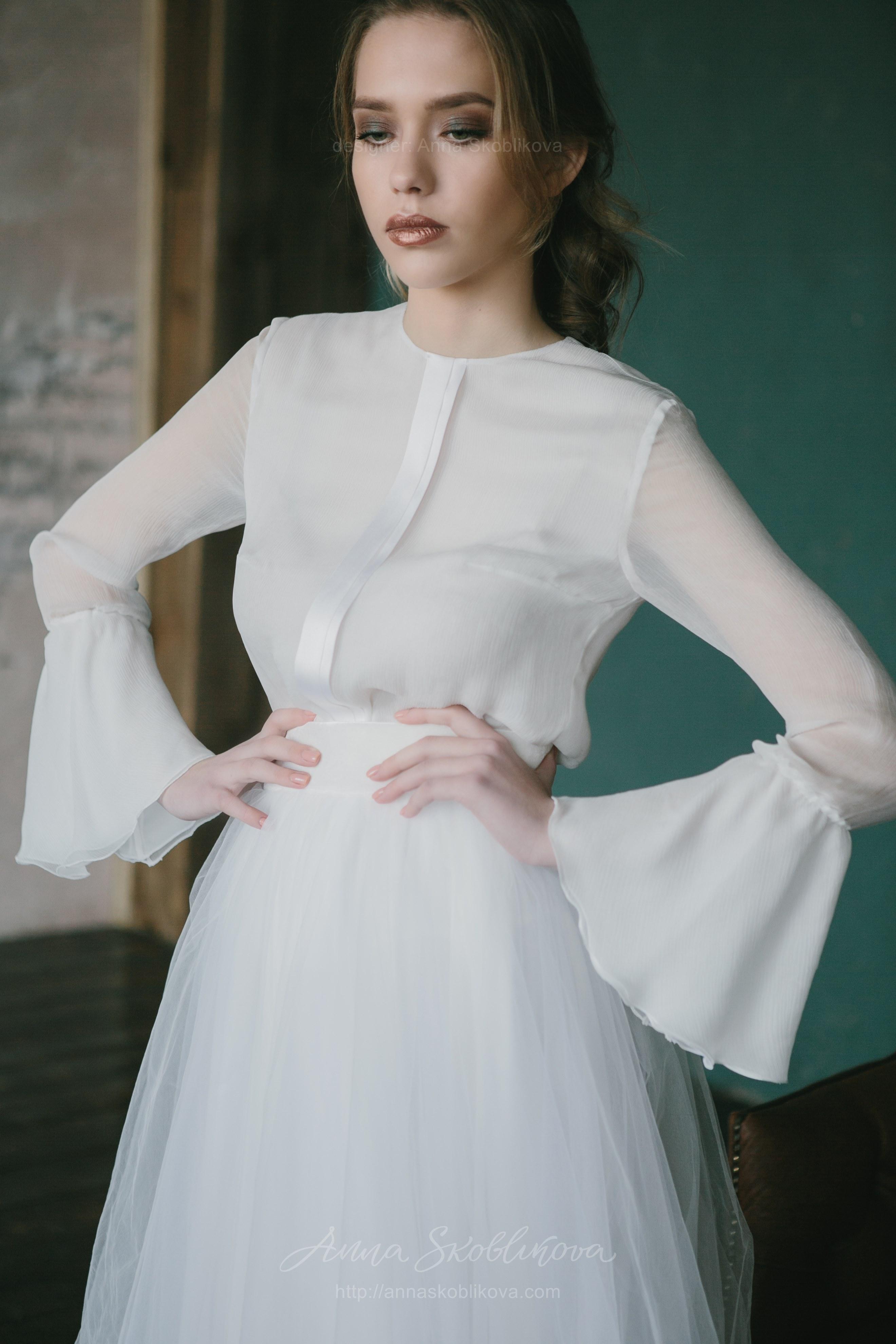 Блузка и юбка на свою свадьбу фото