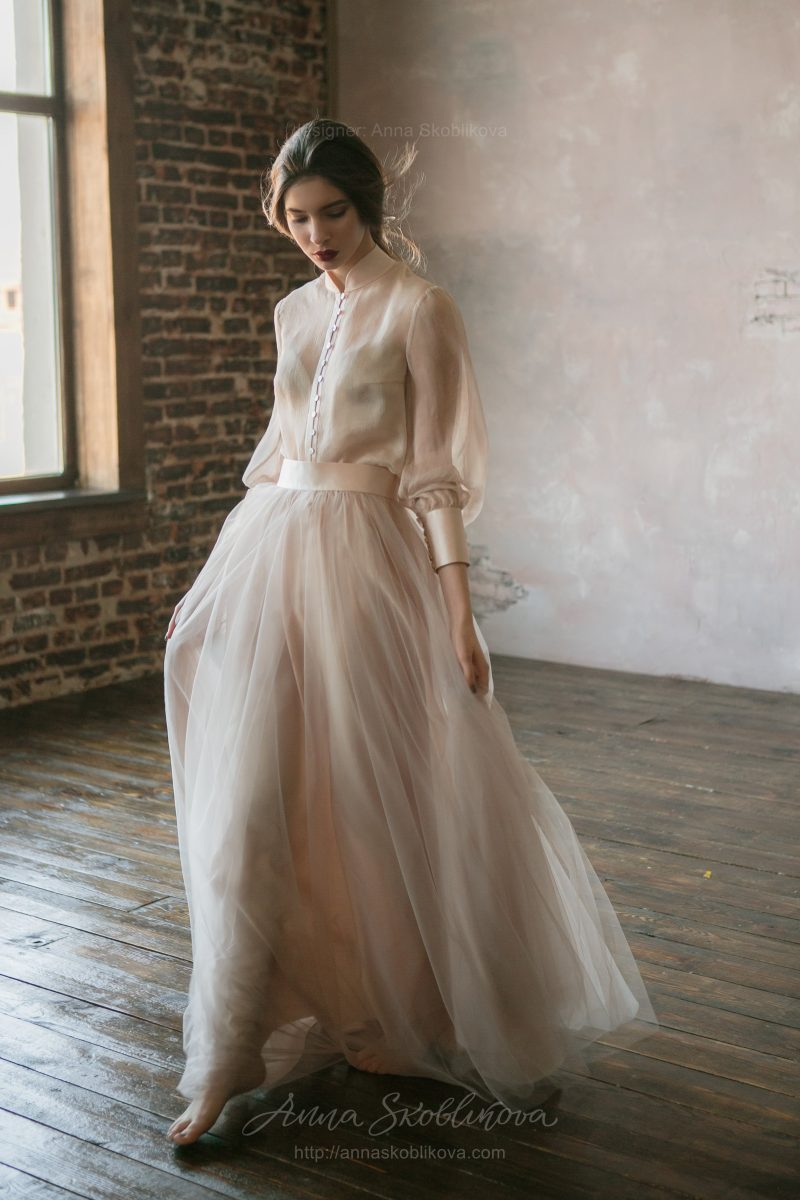 Two piece wedding dress by Anna Skoblikova
