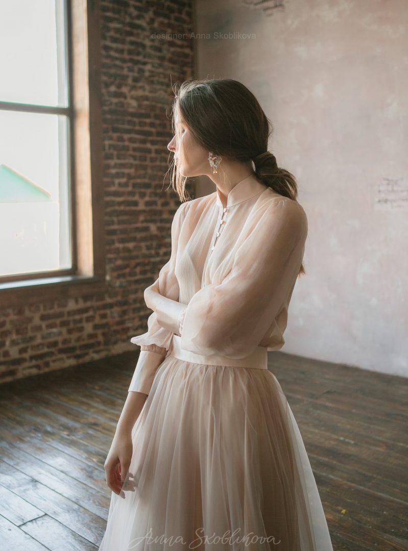 Пудровый свадебный и вечерний комплект от Anna Skoblikova