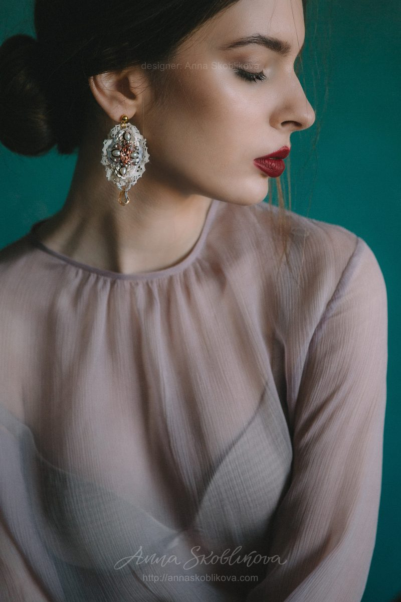Вечерний и Свадебный комплект лилового цвета от Anna Skoblikova