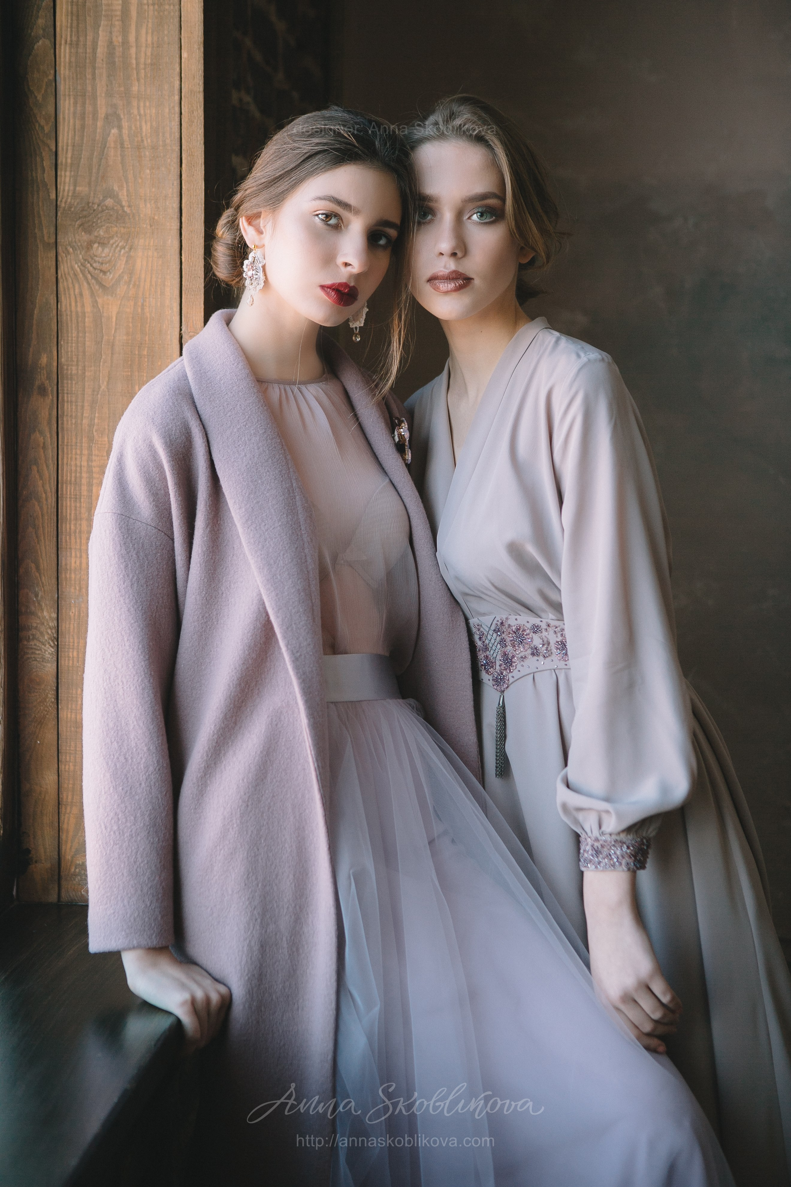 Powdery wrap Wedding dress from dense crêpe-silk   Anna Skoblikova ...