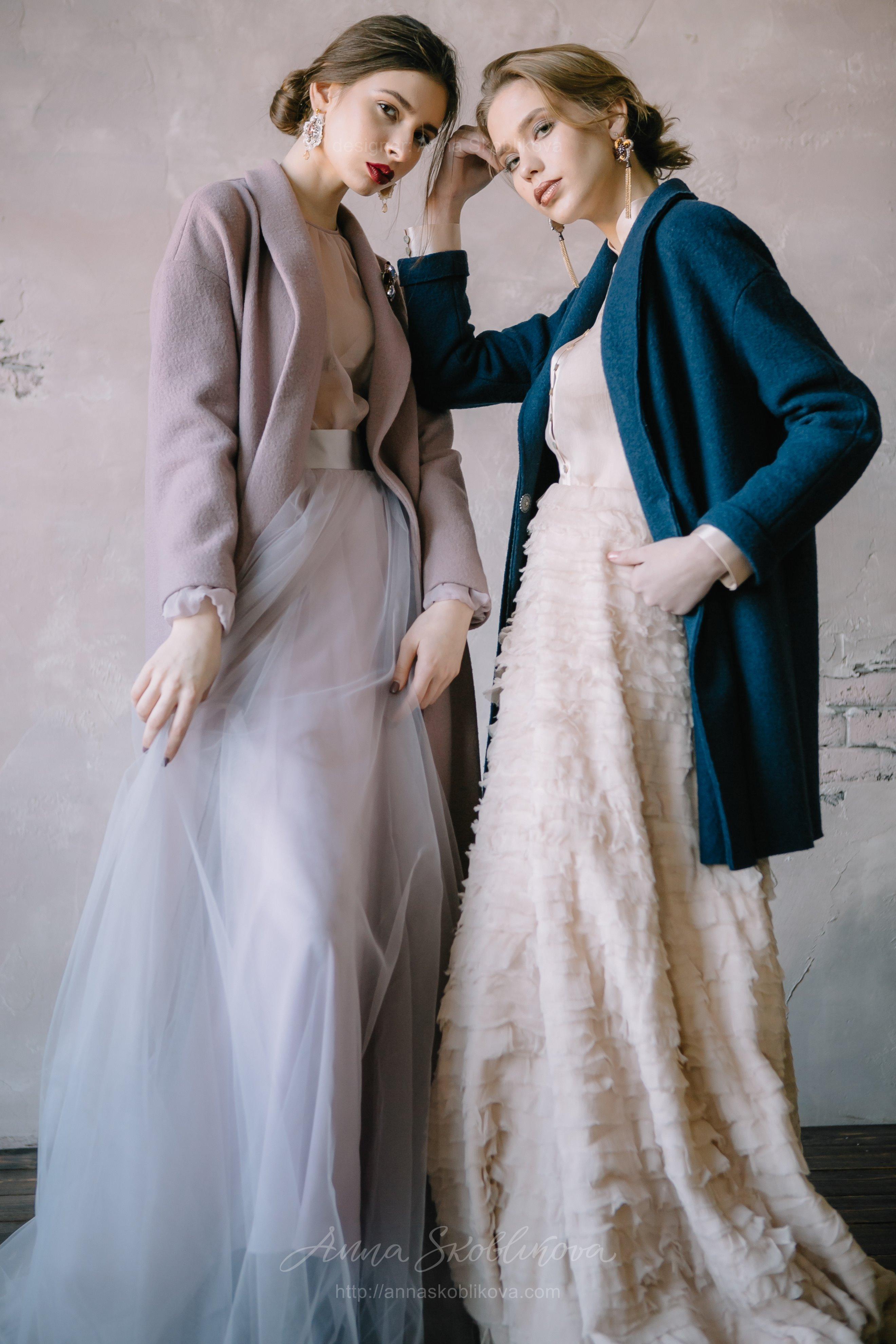 Dark Blue Wool Wedding Cardigan