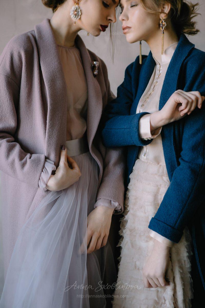Темно-синий кардиган из шерсти от Anna Skoblikova