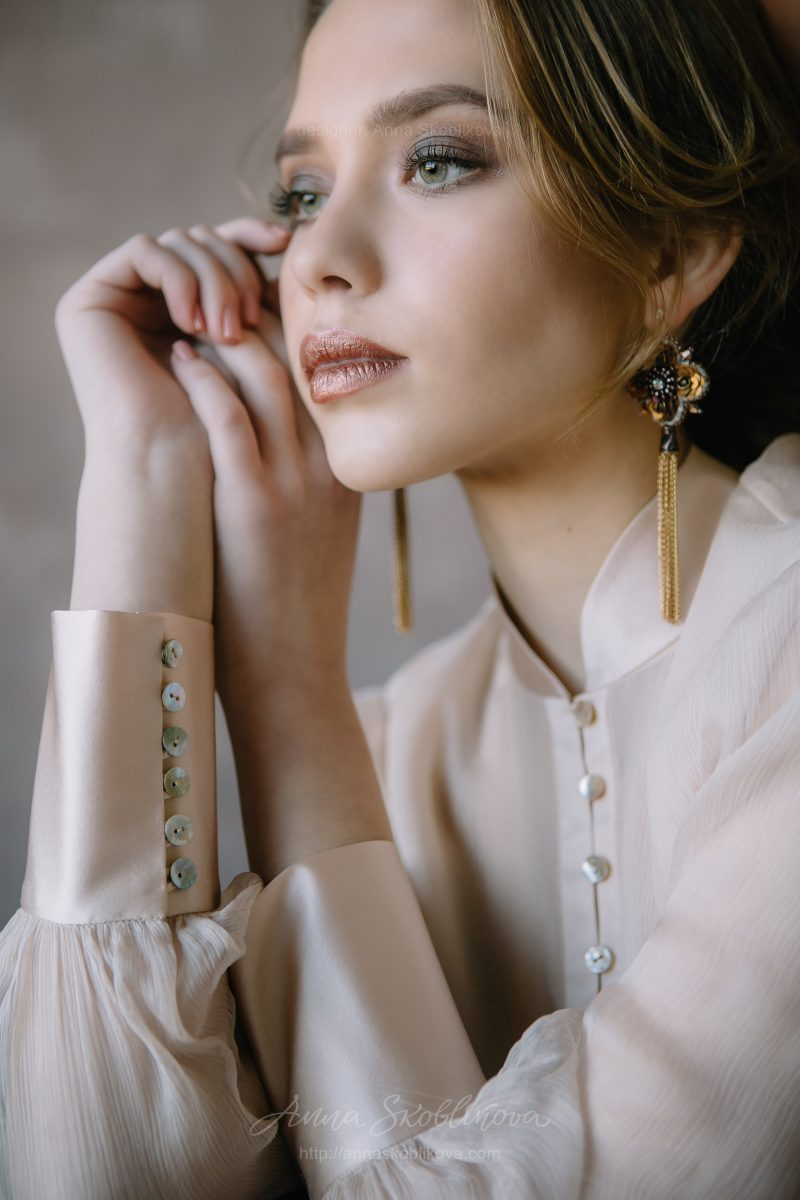 Роскошный пудровый свадебный и вечерний комплект от Anna Skoblikova