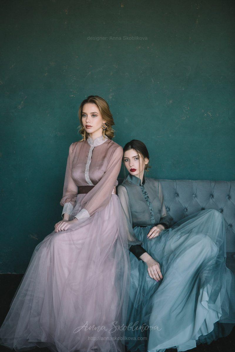 Вечерний комплект блузки и юбки от Anna Skoblikova