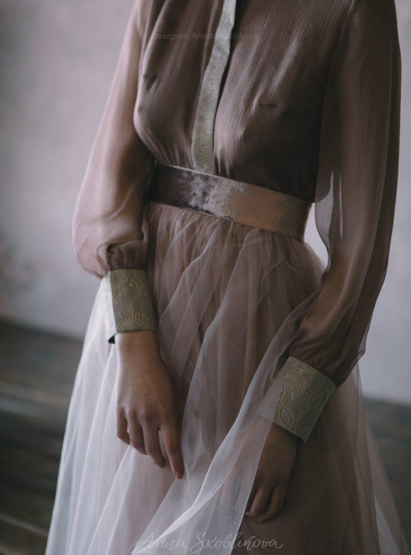 Свадебный и вечерний комплект блуза и юбка от Anna