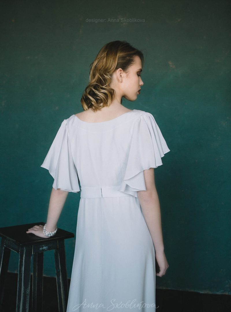 Вечернее и свадебное платье из натурального шелка от Anna Skoblikova