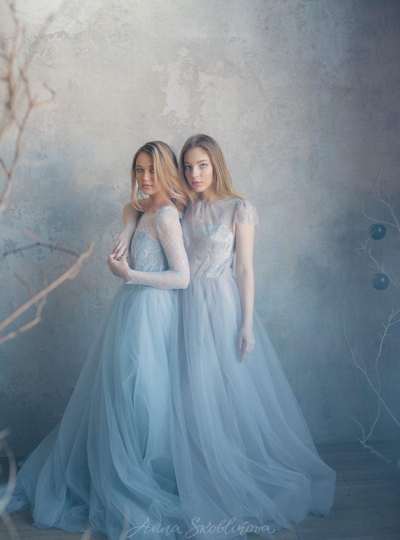 Серое свадебное платье от Anna Skoblikova