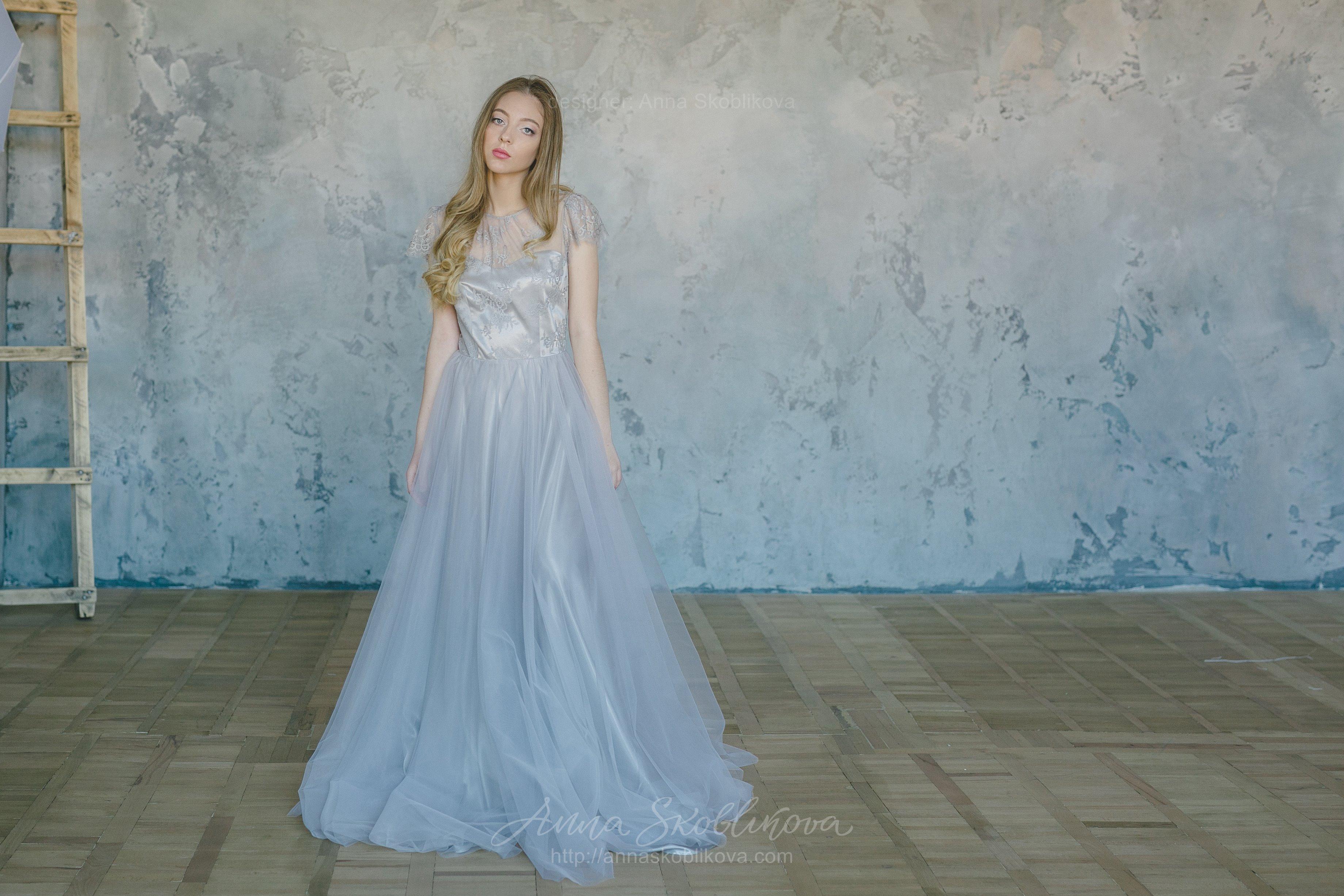Grey Wedding dress with fine lace waist | Anna Skoblikova - Wedding ...