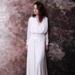 Свадебное платье из креп-шифона от Анны Скобликовой