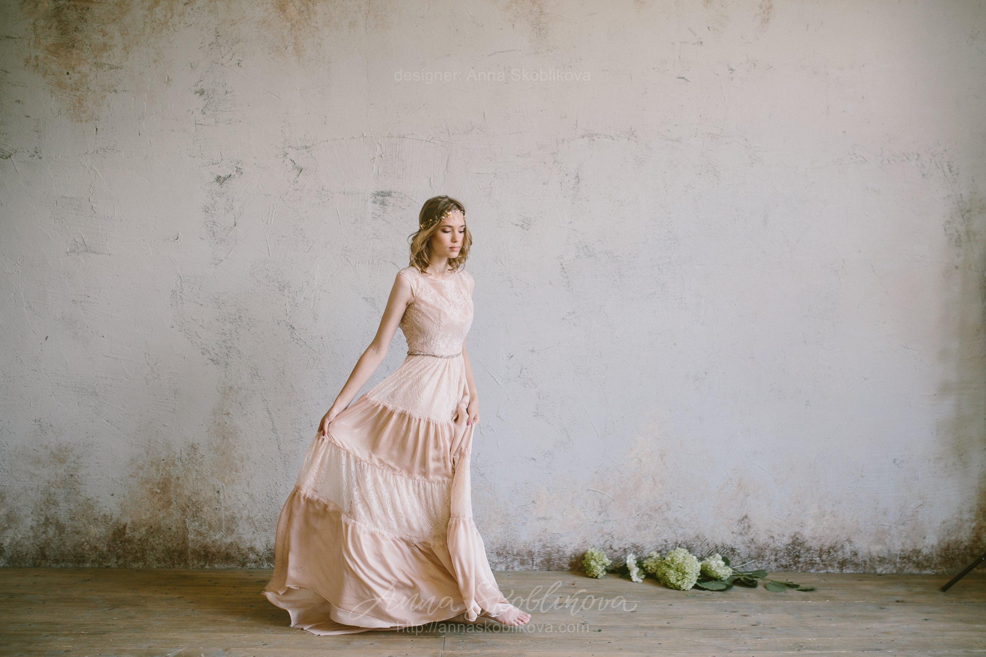 Boho beige wedding dress | Anna Skoblikova - Wedding Dresses ...