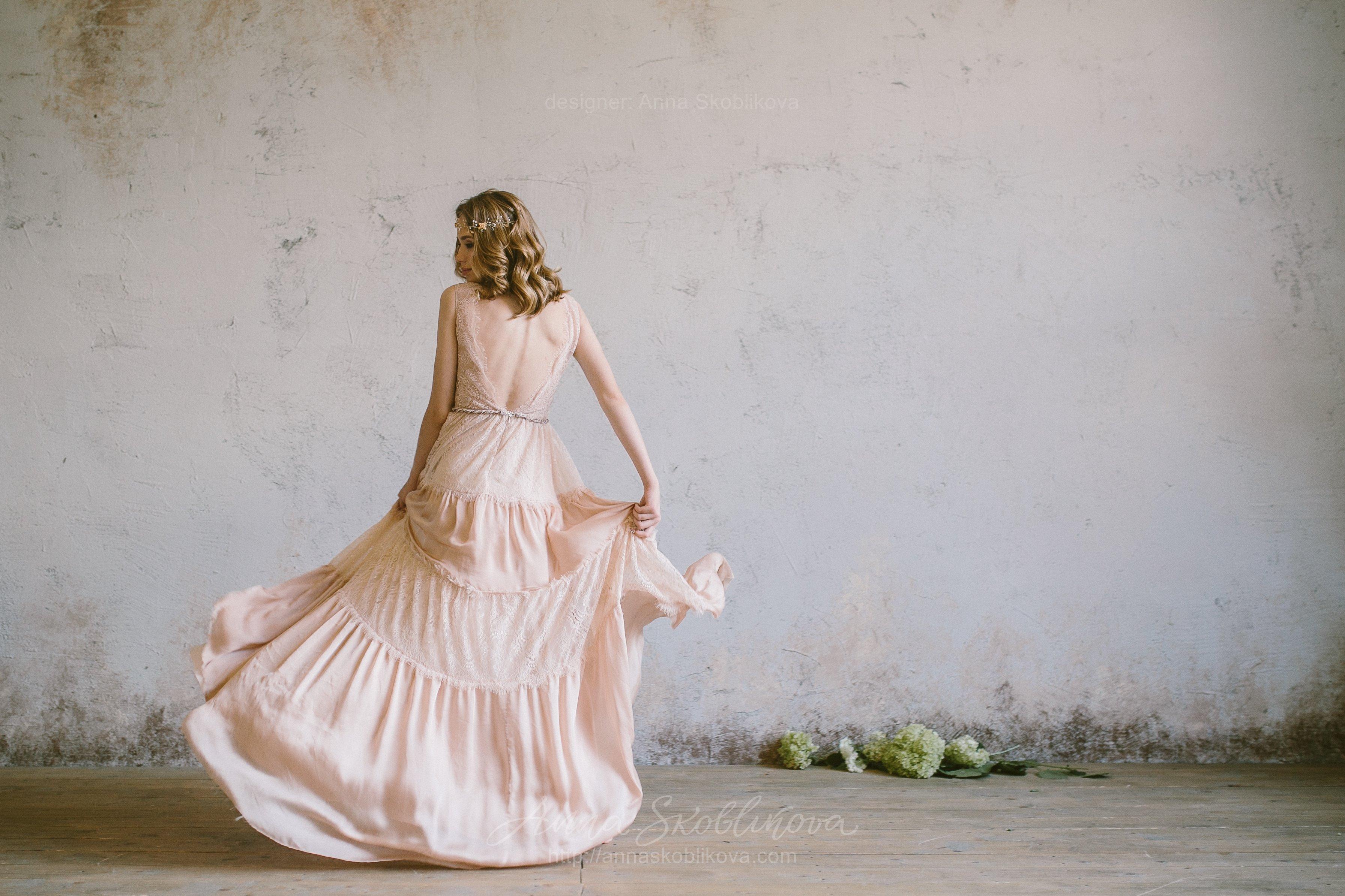 Boho beige wedding dress   Anna Skoblikova - Wedding Dresses ...
