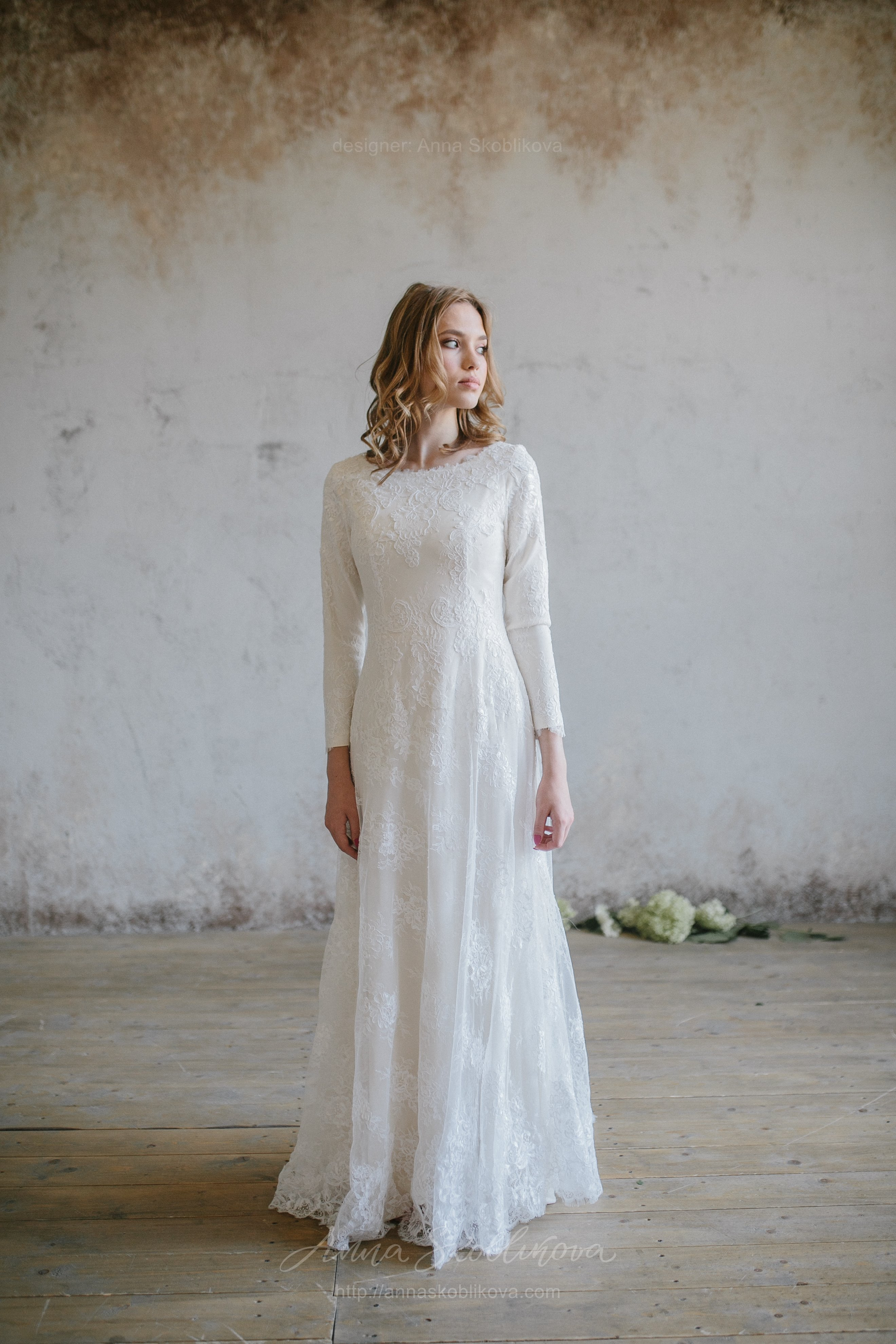 Luxurious winter lace wedding dress   Anna Skoblikova - Wedding ...