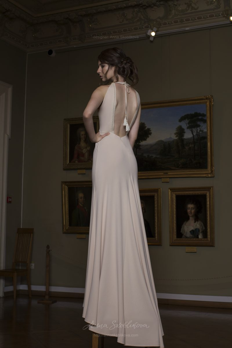 Lillian - Silhouette wedding gown is creatively detailed with rustic-styled elements - Anna Soblikova