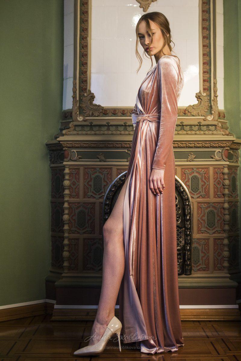 Бархатное свадебное платье Paola - Платье подружки невесты - Элегантность и роскошь в одном флаконе - Anna Skoblikova